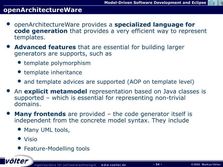 openArchitectureWare