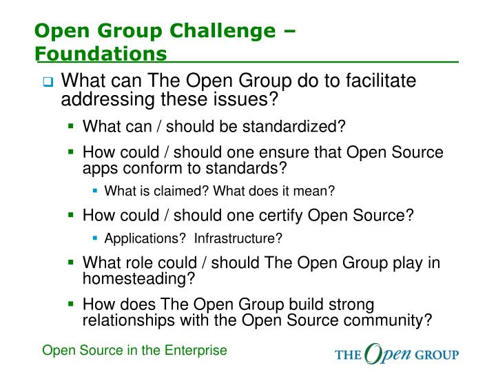 Open Group Challenge –