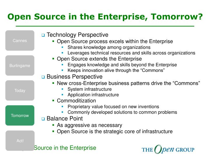 Open Source in the Enterprise, Tomorrow?