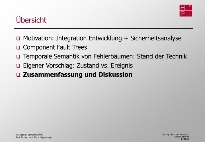 Motivation: Integration Entwicklung + Sicherheitsanalyse
