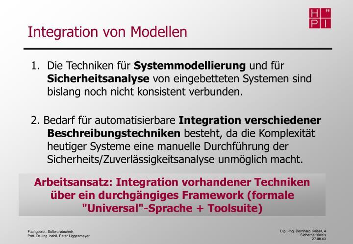Integration von Modellen