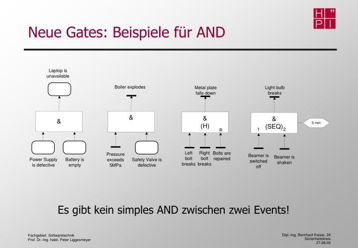 Neue Gates: Beispiele für AND