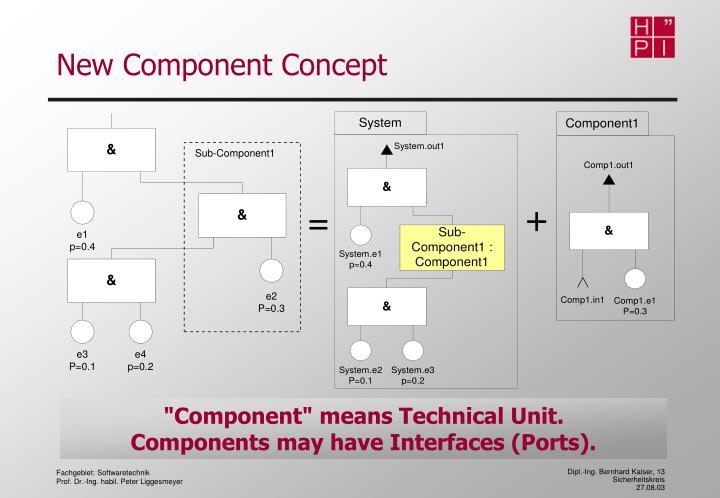 New Component Concept