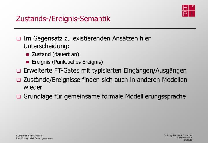 Zustands-/Ereignis-Semantik