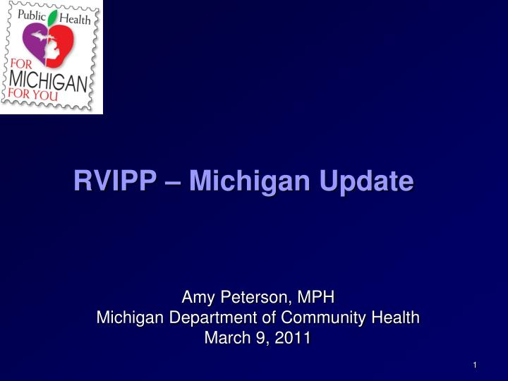 Rvipp michigan update