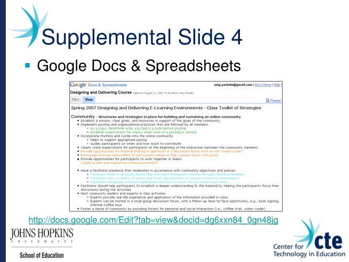 Supplemental Slide 4