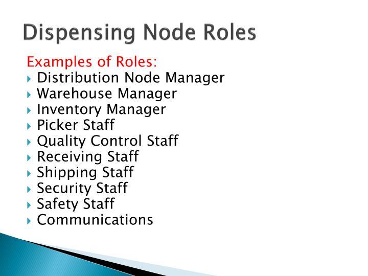 Dispensing Node Roles