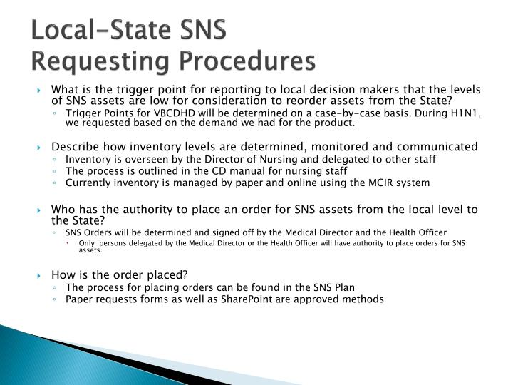Local-State SNS