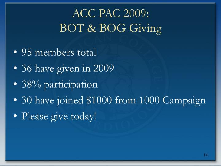 ACC PAC 2009: