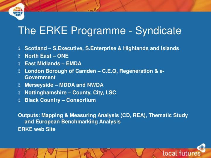 The ERKE Programme - Syndicate