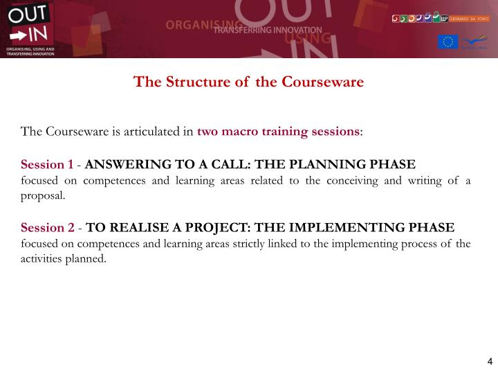 The Structure of the Courseware