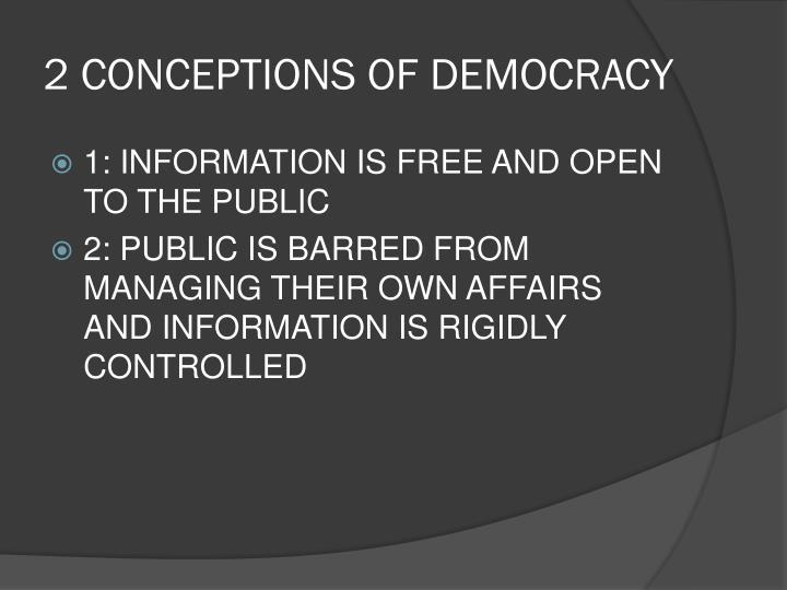 2 CONCEPTIONS OF DEMOCRACY