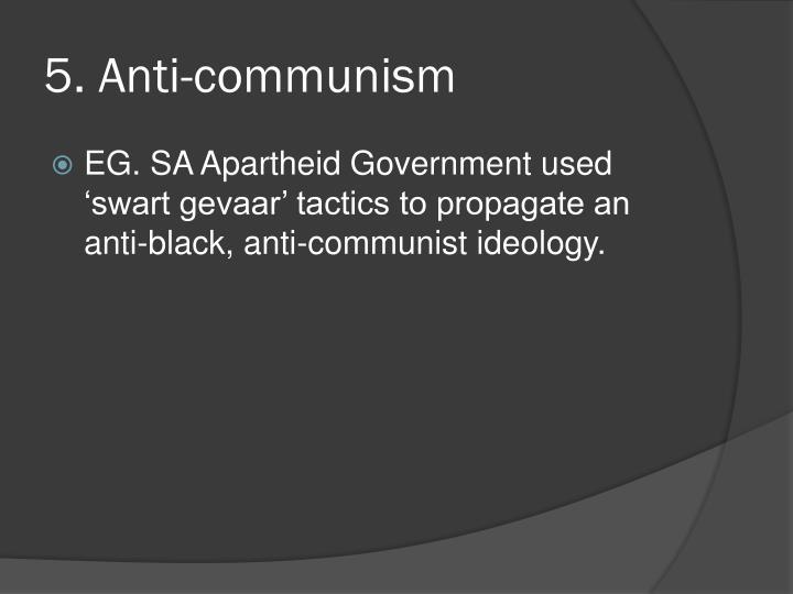 5. Anti-communism