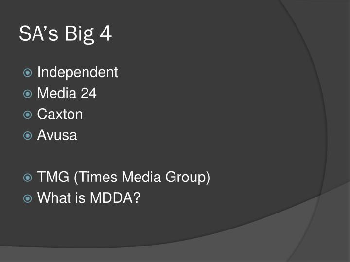 SA's Big 4