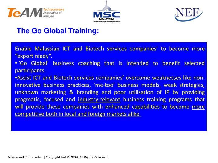 The Go Global Training:
