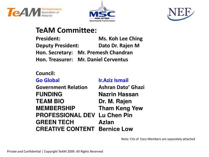 TeAM Committee: