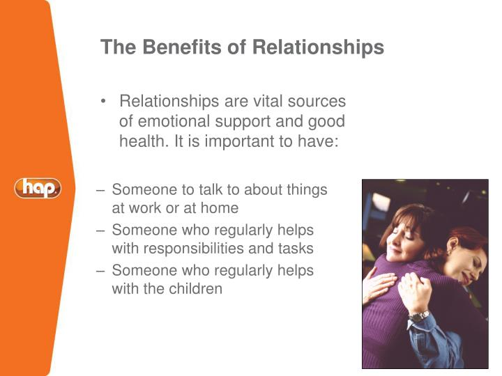 The Benefits of Relationships