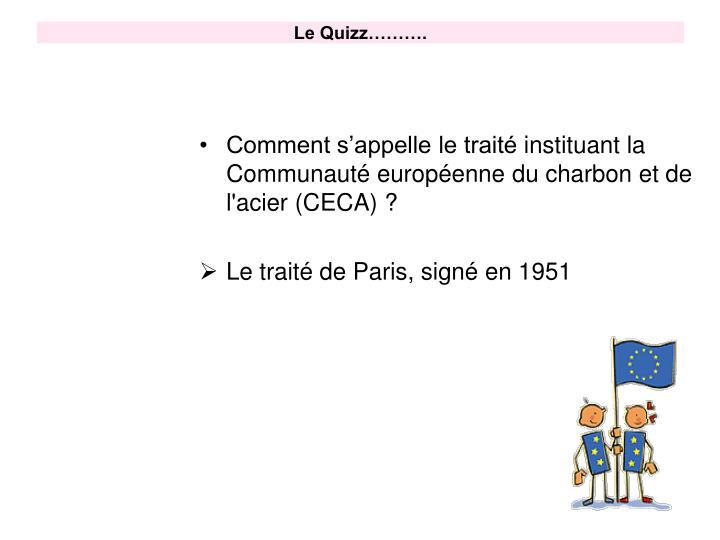 Le Quizz……….