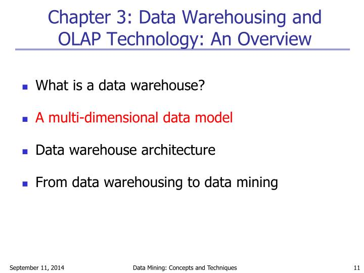 Chapter 3: Data Warehousing and OLAP Technology: An Overview