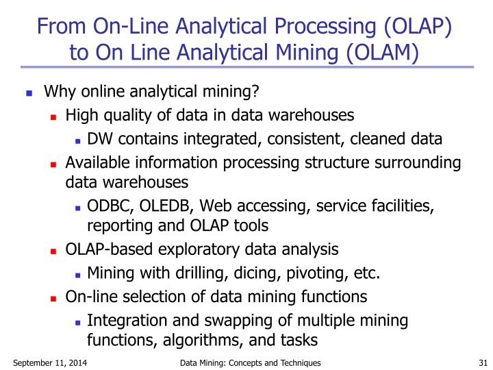 From On-Line Analytical Processing (OLAP)
