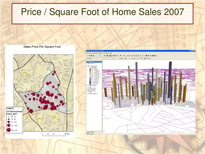 Price / Square Foot of Home Sales 2007