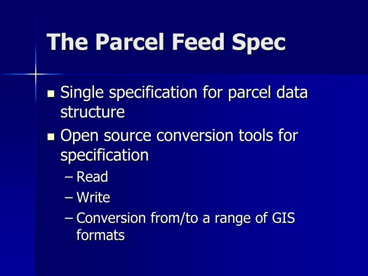 The Parcel Feed Spec