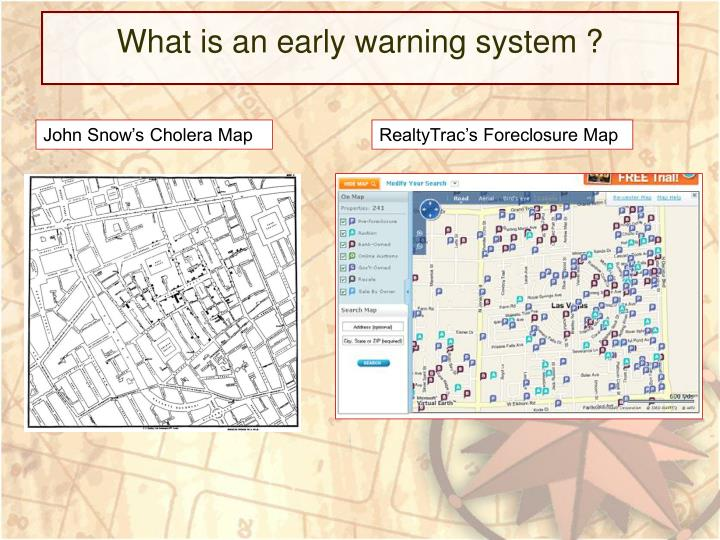 What is an early warning system ?