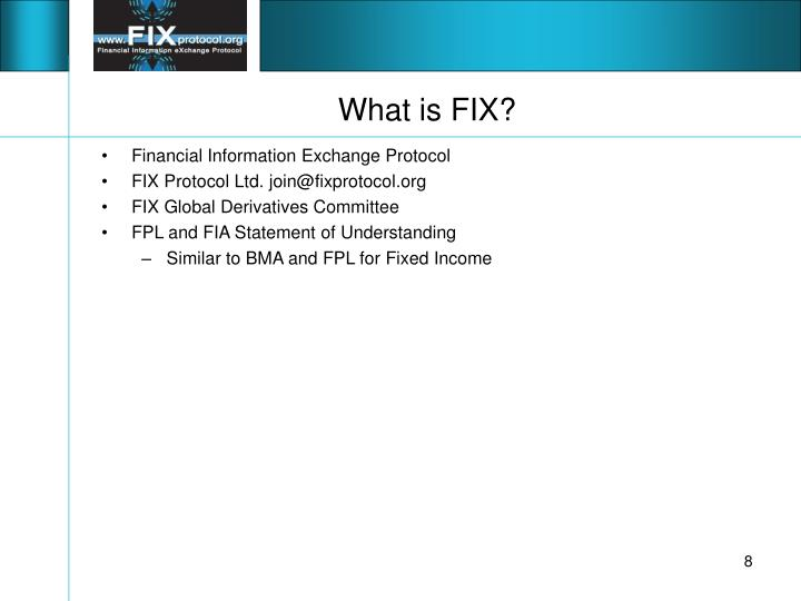 What is FIX?