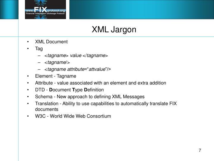 XML Jargon