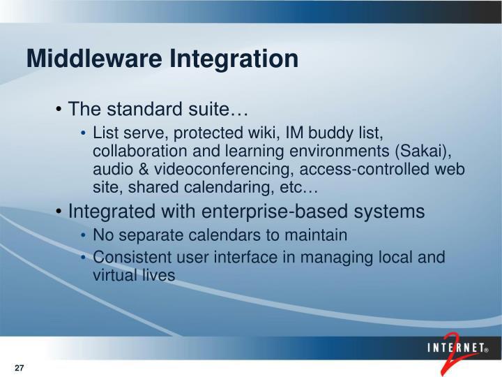Middleware Integration