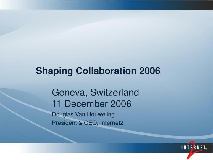 Shaping collaboration 2006
