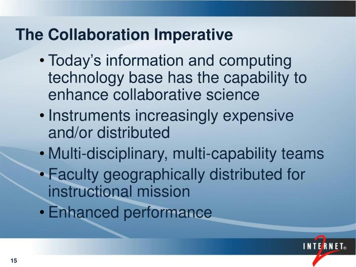 The Collaboration Imperative