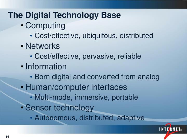 The Digital Technology Base