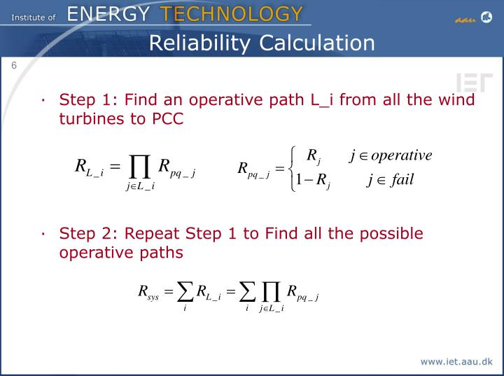 Reliability Calculation