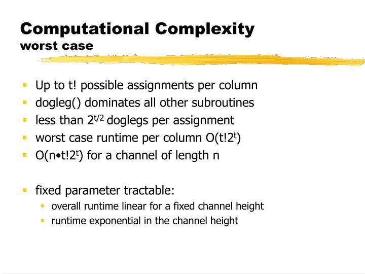 Computational Complexity