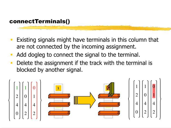 connectTerminals()