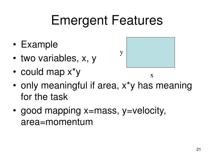 Emergent Features