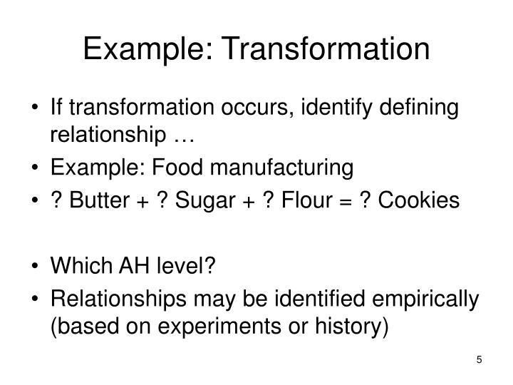 Example: Transformation
