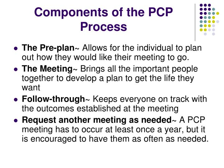 Components of the PCP Process