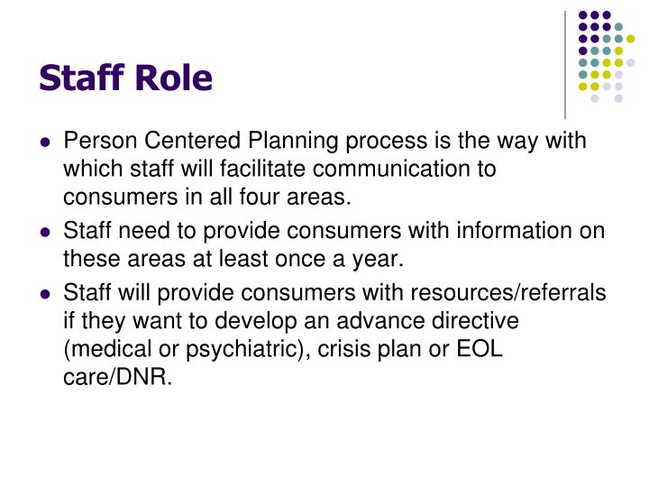 Staff Role