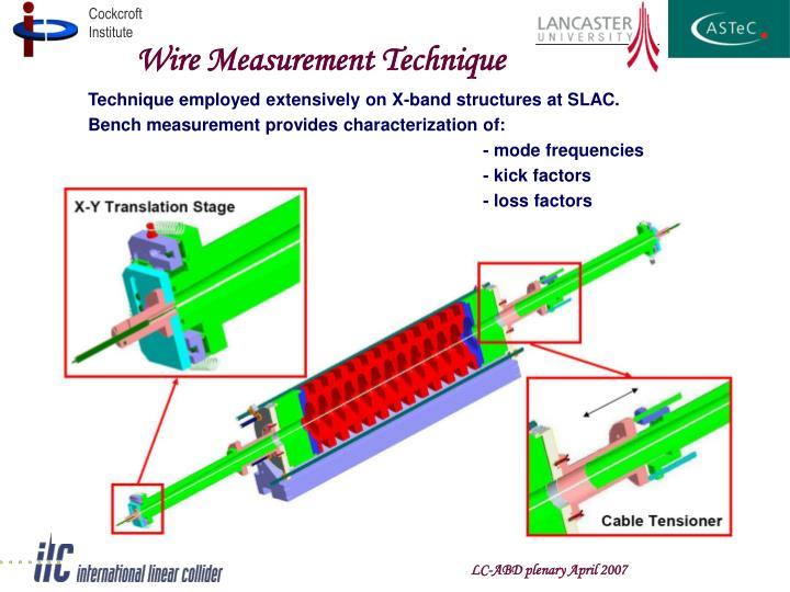 Wire Measurement Technique