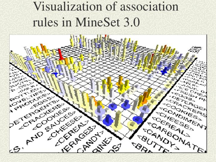 Visualization of association rules in MineSet 3.0