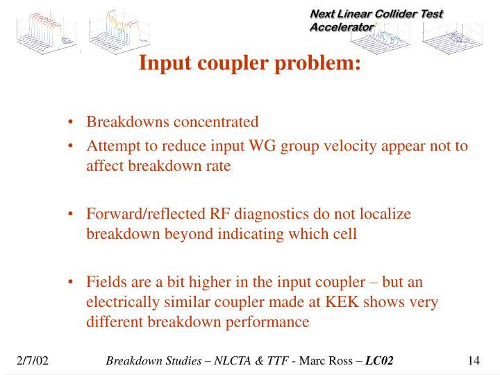 Input coupler problem: