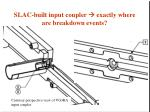 slac built input coupler exactly where are breakdown events