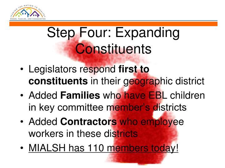 Step Four: Expanding Constituents