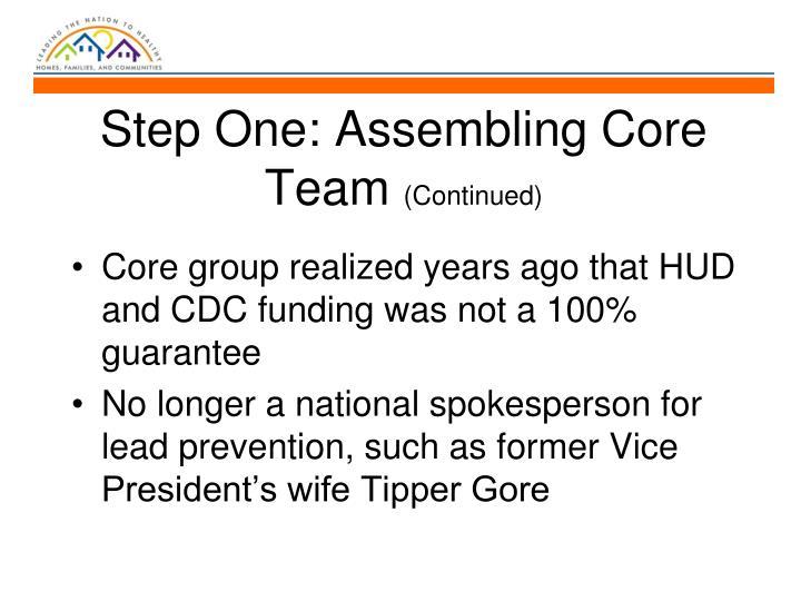 Step One: Assembling Core Team