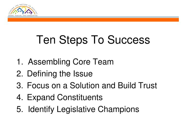 Ten Steps To Success