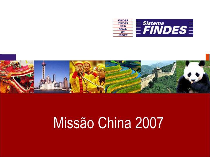 Missão China 2007
