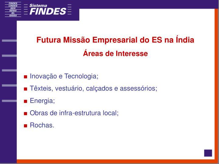 Futura Missão Empresarial do ES na Índia