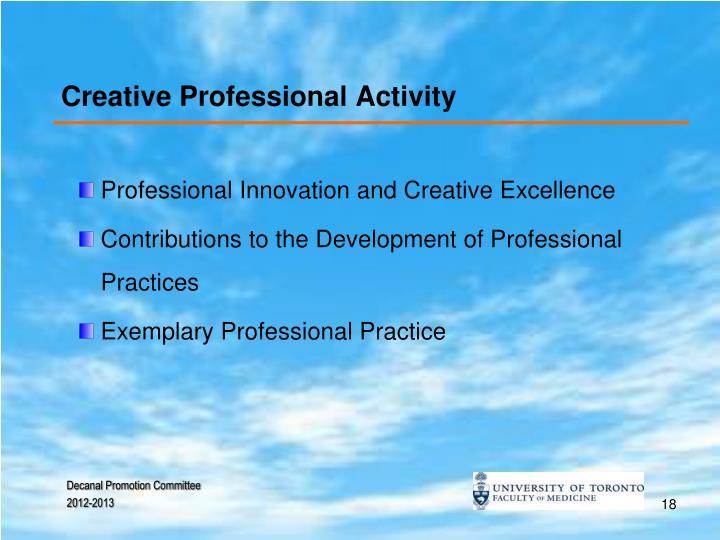 Creative Professional Activity